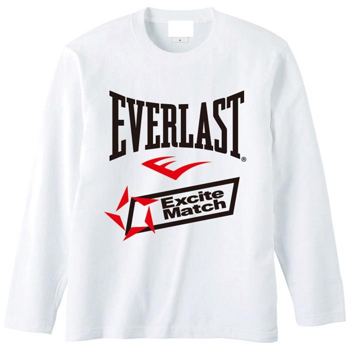 エキサイトマッチ everlast excite match ロゴtシャツ 長袖 wht wowshop
