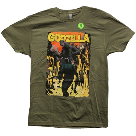 【映画】ゴジラ GODZILLA AND WHAT ARMY PX OLIVE Tシャツ