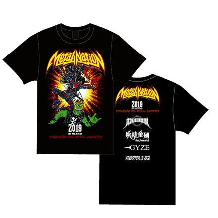 【METAL NATION 2019 IN MEXICO】オフィシャルグッズ Tシャツ(Color)
