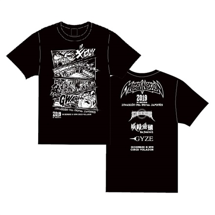 【METAL NATION 2019 IN MEXICO】オフィシャルグッズ Tシャツ (COMIC)