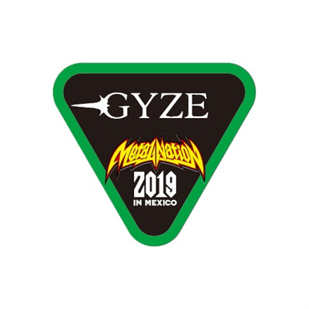 【METAL NATION 2019 IN MEXICO】アーティストコラボグッズ ステッカー GYZE A トライアングル