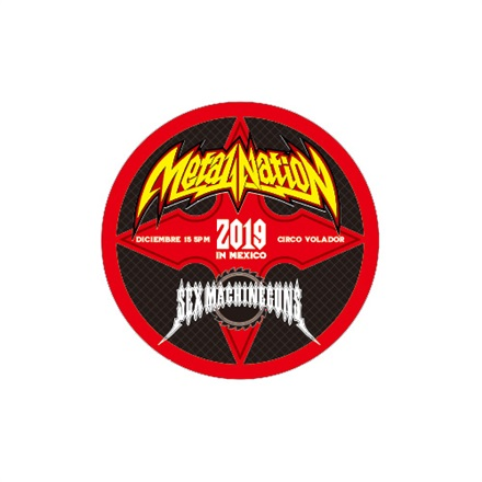 【METAL NATION 2019 IN MEXICO】アーティストコラボグッズ ステッカー SEX MACHINEGUNS B サークル
