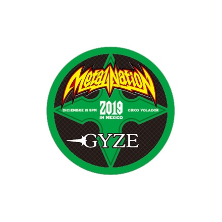 【METAL NATION 2019 IN MEXICO】アーティストコラボグッズ ステッカー GYZE B サークル